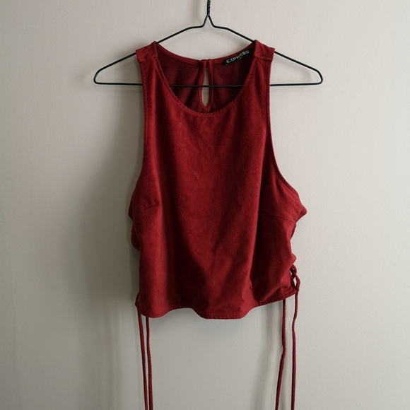 Express red crop top